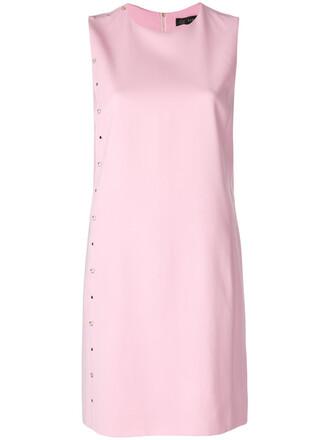dress women spandex silk purple pink