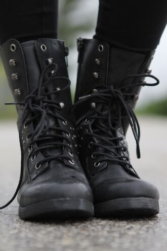 shoes black combat boots army boots combat boots shoes black grunge flat tumblrshoes tumblr grunge