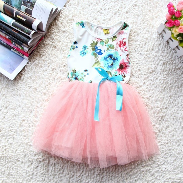 dress pink dress cute dress flowers