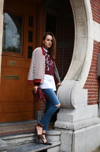 style scrapbook blogger jeans jacket bag alexander wang