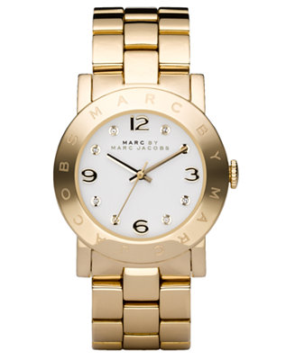 Marc by Marc Jacobs Watch, Women's Gold-Tone Stainless Steel Bracelet MBM3056 - Watches - Jewelry & Watches - Macy's