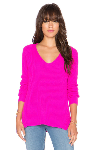 Autumn Cashmere sweater v neck pink