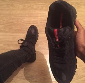shoes prada trainers leopard print