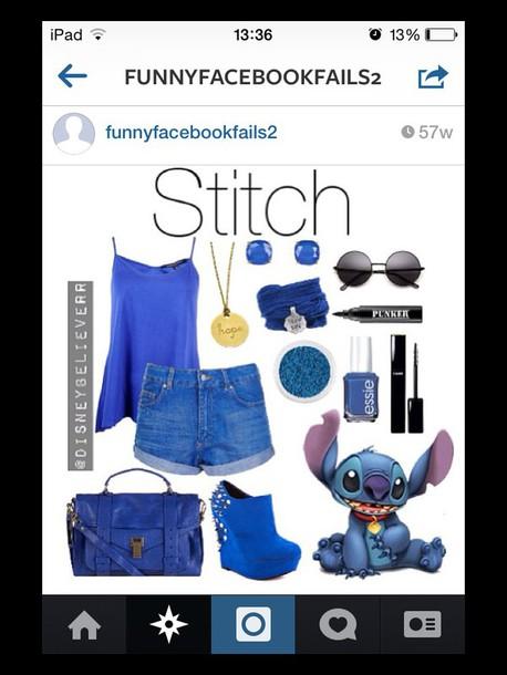 shoes high heels shirt blue shirt