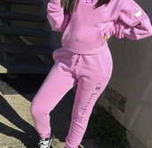 blouse,champion,pink,need ,jogging suit