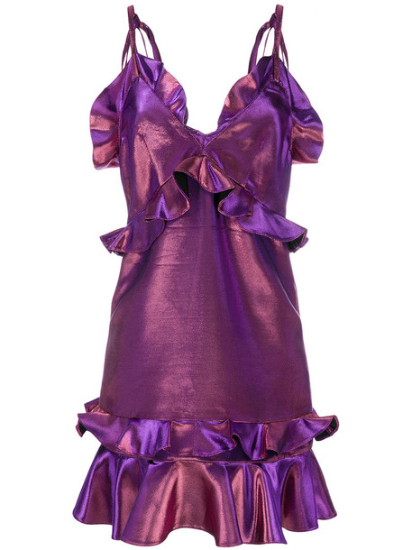 dress short women cotton purple pink