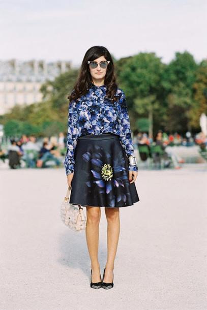 vanessa jackman blogger shirt blouse skirt bag