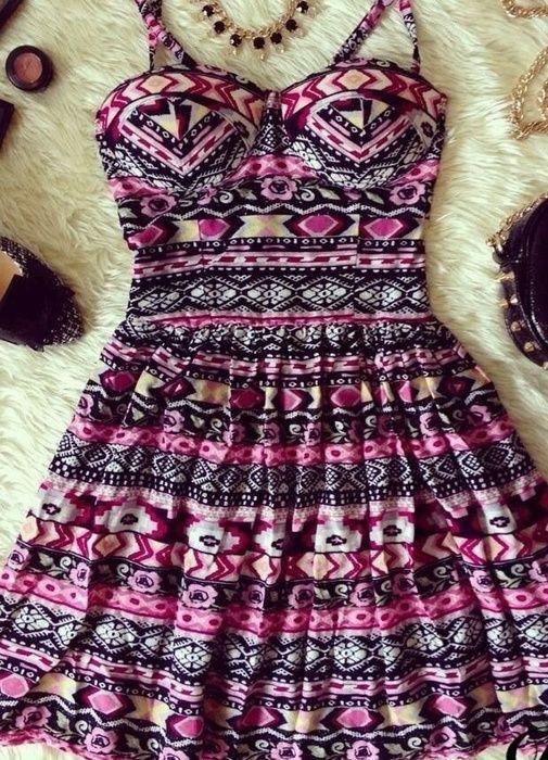Dress Aztec Bustier | eBay