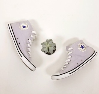shoes purple lilac converse high top converse purple shoes chuck taylor all stars