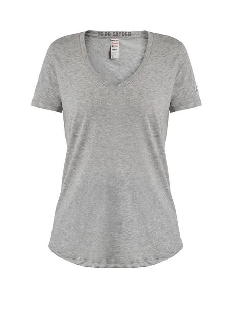 t-shirt shirt t-shirt cotton light grey top