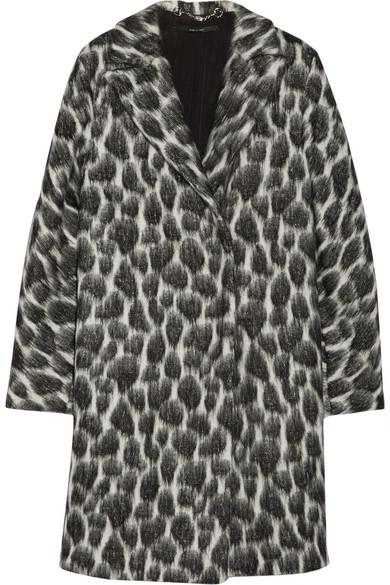 Print textured coat
