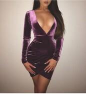 dress,velvet,purple,style,fashion,cute,purple dress,velvet dress,cute dress,hot,tumblr outfit,tumblr dress,tumblr girl,tumblr clothes,mini dress,long sleeve dress,short dress,violet dress,bodycon,purple velvet dress,v neck dress,plunge v neck,party dress,boho dress,suede,suede dress,short,sexy short dresses,v neck,violet,sequin dress,sequins,long dress,party,night dress,night out dress