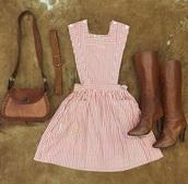 dress,pink,cute,stripes,pretty,girly