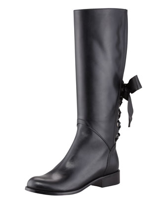 Saint Laurent Master Lace-Up Combat Boot, Black  - Bergdorf Goodman