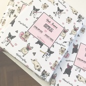 home accessory,yeah bunny,bedding,dog,print,frenchie,pugs,cute,love,kiss,white bedding,kawaii