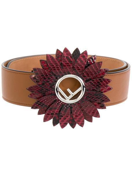 daisy belt brown
