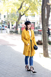 che cosa,blogger,coat,jeans,shirt,hat,shoes