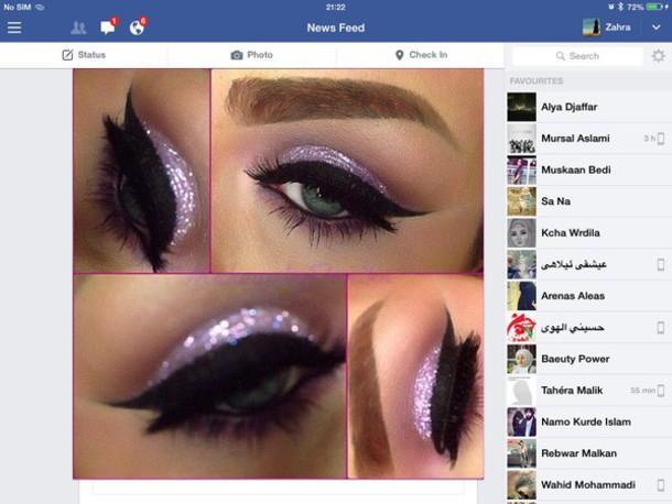 make-up violet glitter eye makeup glitter eye shadow