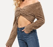 top,girly,girl,girly wishlist,cropped,crop tops,crop,fur,fuzzy crop top,off the shoulder,off the shoulder sweater,cute