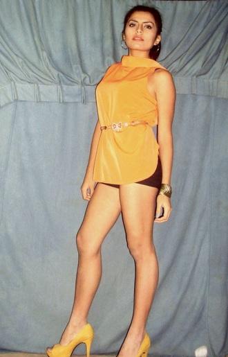 blouse orange yellow trendy