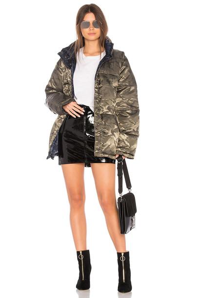 KENDALL + KYLIE jacket puffer jacket green