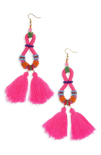 Panacea Beaded Tassel Drop Earrings | Nordstrom