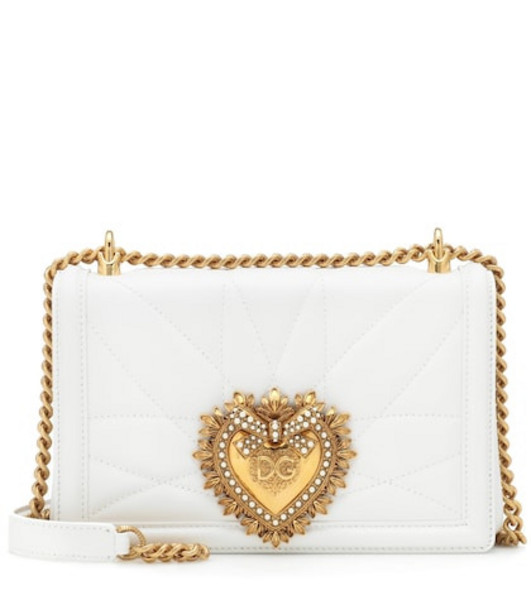 Dolce & Gabbana Medium Devotion shoulder bag in white
