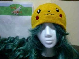 hat beanie pokemon pikachu yellow