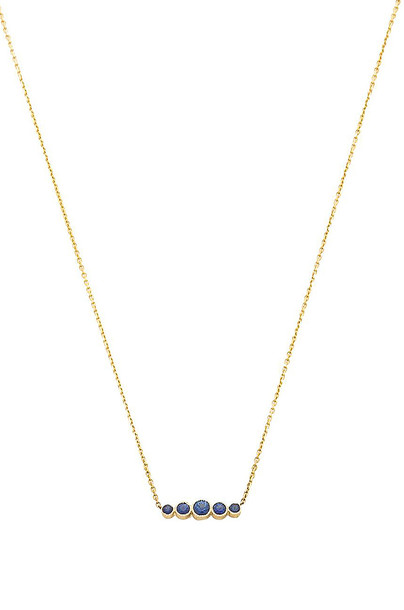 Sachi Graduated Sapphire Necklace in gold / metallic