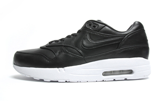 black leather shoes nike air max 1