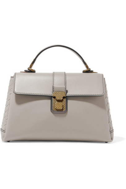 Bottega Veneta - Piazza Medium Intrecciato-paneled Leather Tote - Gray