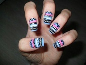nail polish,aztec nails,purple nails