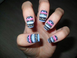 nail polish aztec nails purple nails