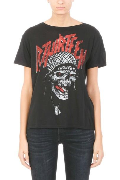 t-shirt shirt cotton t-shirt t-shirt punk cotton black top