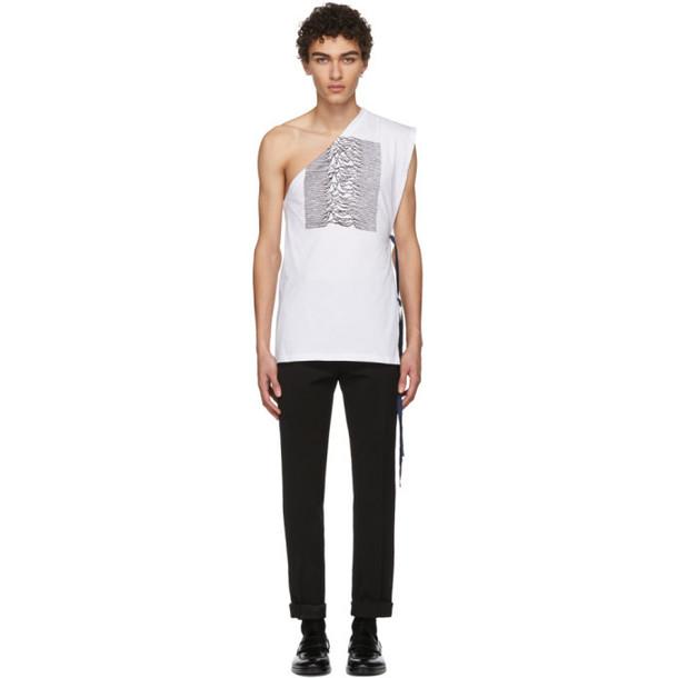 Raf Simons White & Black Asymmetric T-Shirt