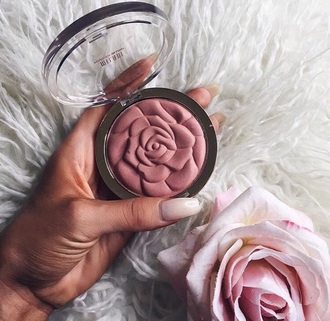 make-up rose pink blush pink face makeup cheek blush blush cute flowers makeup palette