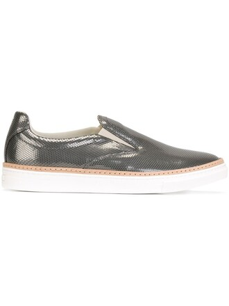 metallic sneakers shoes