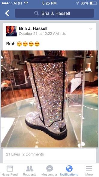 crystal quartz ugg boots bling