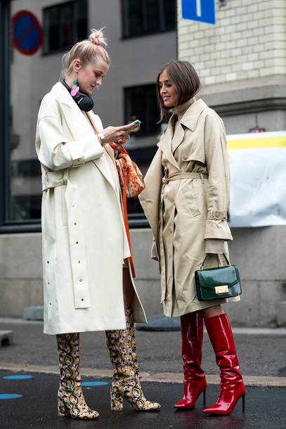 shoes tumblr boots red boots streetstyle printed boots coat camel camel coat trench coat white coat bag