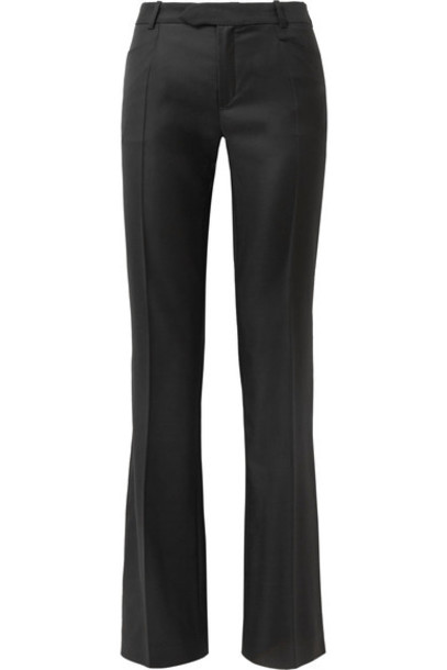Joseph pants wide-leg pants 100 black wool