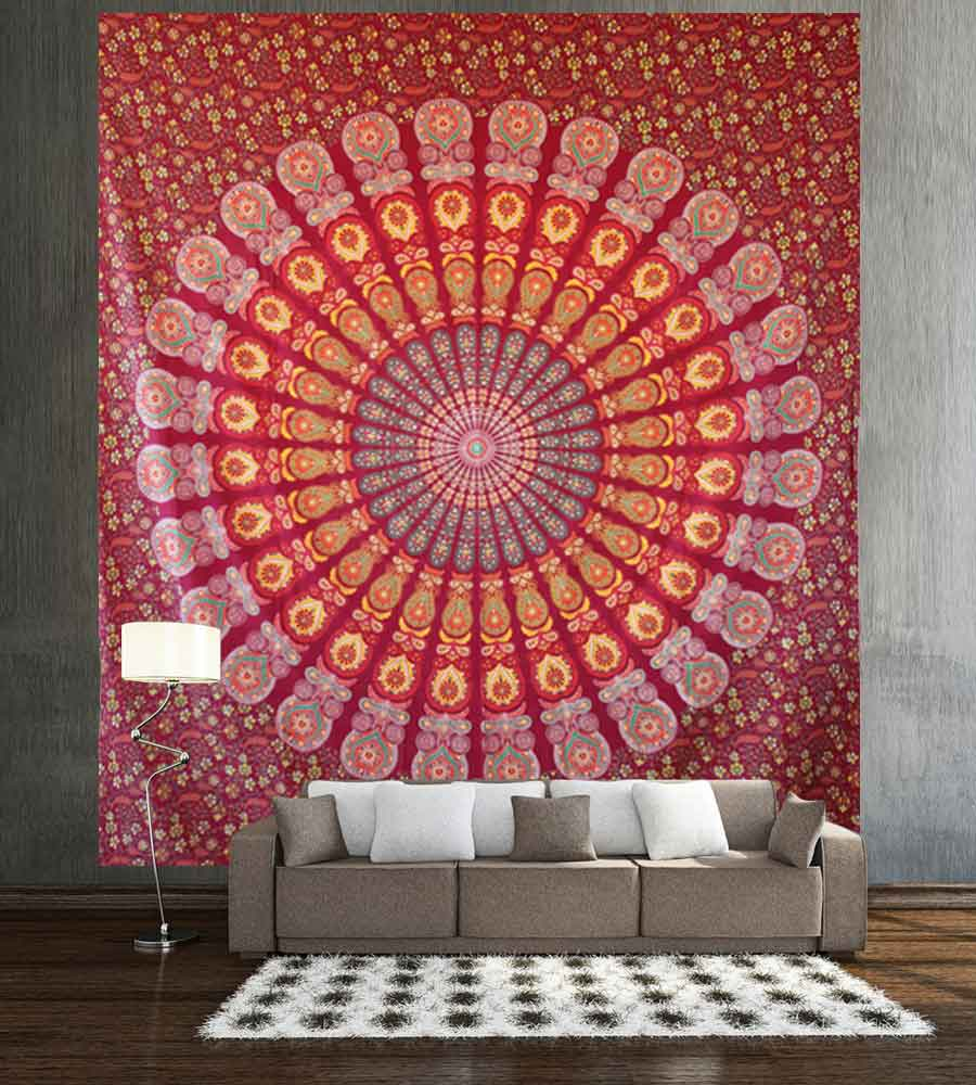 Multi Color Mandala Hippie Wall Decor Tapestry