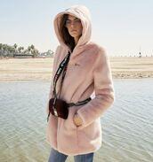 jacket,pink,dusty pink,kaia gerber,model