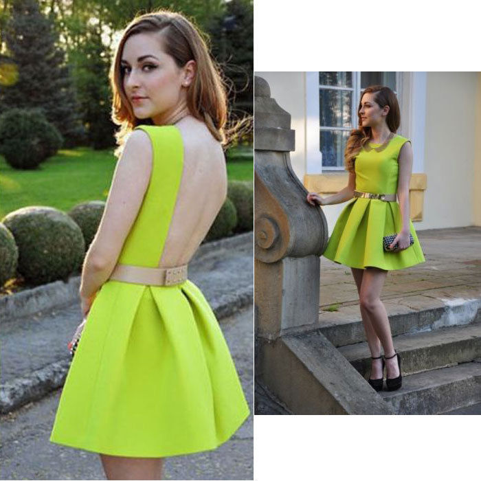 Women's Ladies Backless Sleeveless Skater Party Evening Short Mini Sexy Dress | eBay