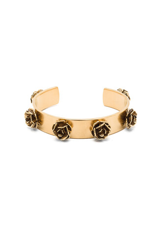 cuff metallic gold