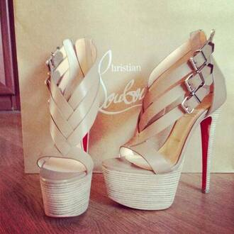 shoes high heels beige high heels cute high heels louboutin
