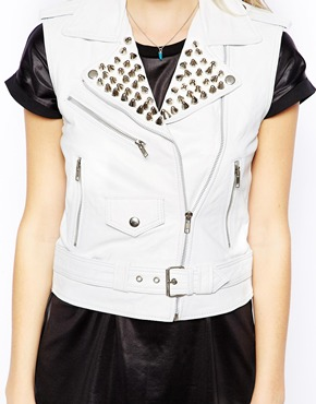 The Ragged Priest | The Ragged Priest Haze Leather Biker Vest at ASOS