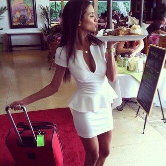dress white girl fashion cute