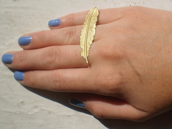 Light as a feather ring by littlepancakes on Etsy