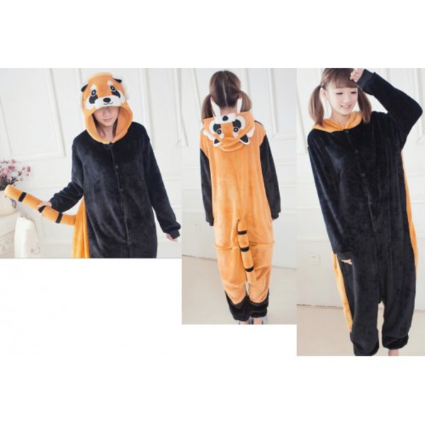 Image of: Racoon Jumpsuit Onesie Onesie Onesies Women Onesies Men Kigurumi Kigurumi Animal Onesies Kigurumi Onesies Kigurumi Shop Kigu Amazon Uk Animal Onesies Red Panda Onesie Pajamas