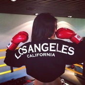 sweater,california,boxing,black sweater,jacket,shirt,black,gorgeous,keeping up with the kardashians,kendall jenner,los angeles,t-shirt